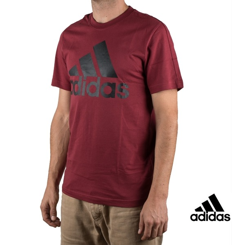 Adidas Camiseta ESS Linear Tee Granate Hombre