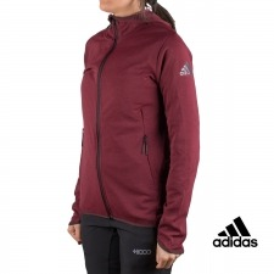 Adidas chaqueta running FL CC Hoodie Vino mujer
