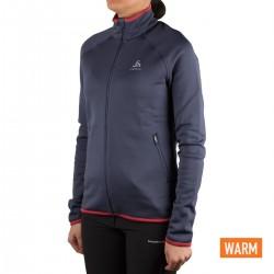 Odlo chaqueta running Azul Mujer