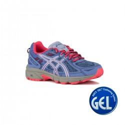 Asics Gel Venture 6 GS Blue Harmony Pink Cameo Niña