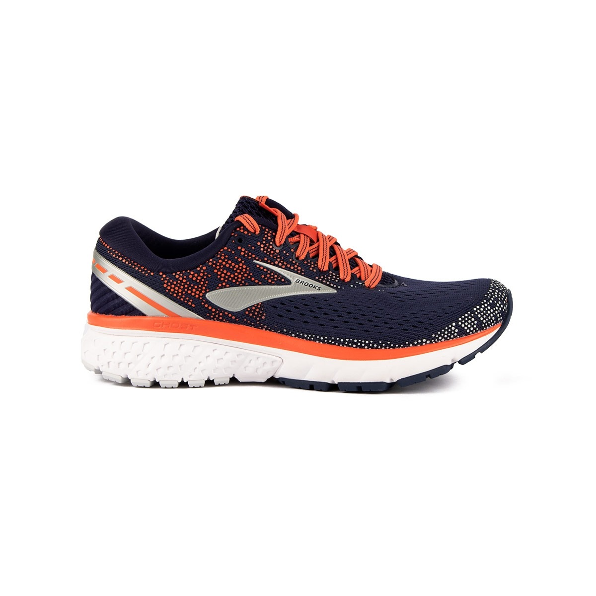 Brooks Ghost 11 Navy Coral Gray Azul Mujer