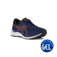 Asics Gel Excite 6 Indigo Blue Shocking Orange Azul Naranja Hombre