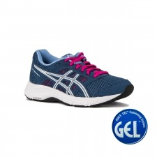 Asics Gel Contend 5 Grand Shark White Azul Rosa para Mujer