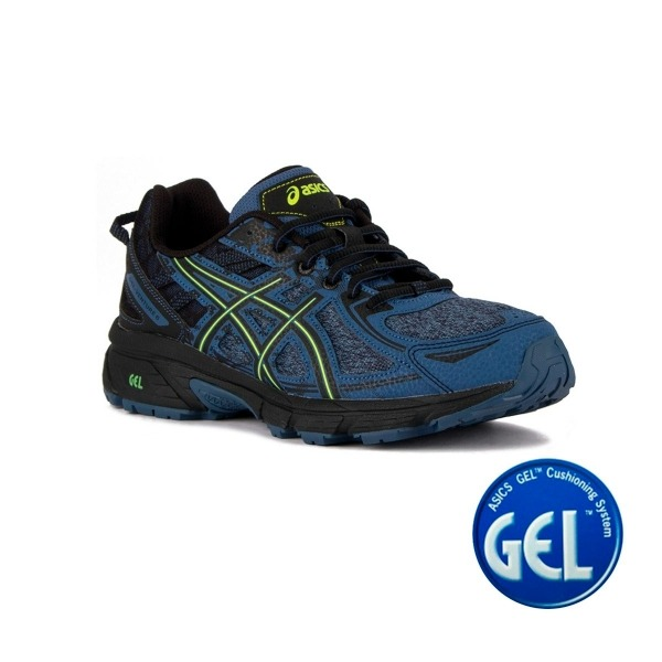 Zapatillas en triple negro Gel Venture 6 Trail de Asics