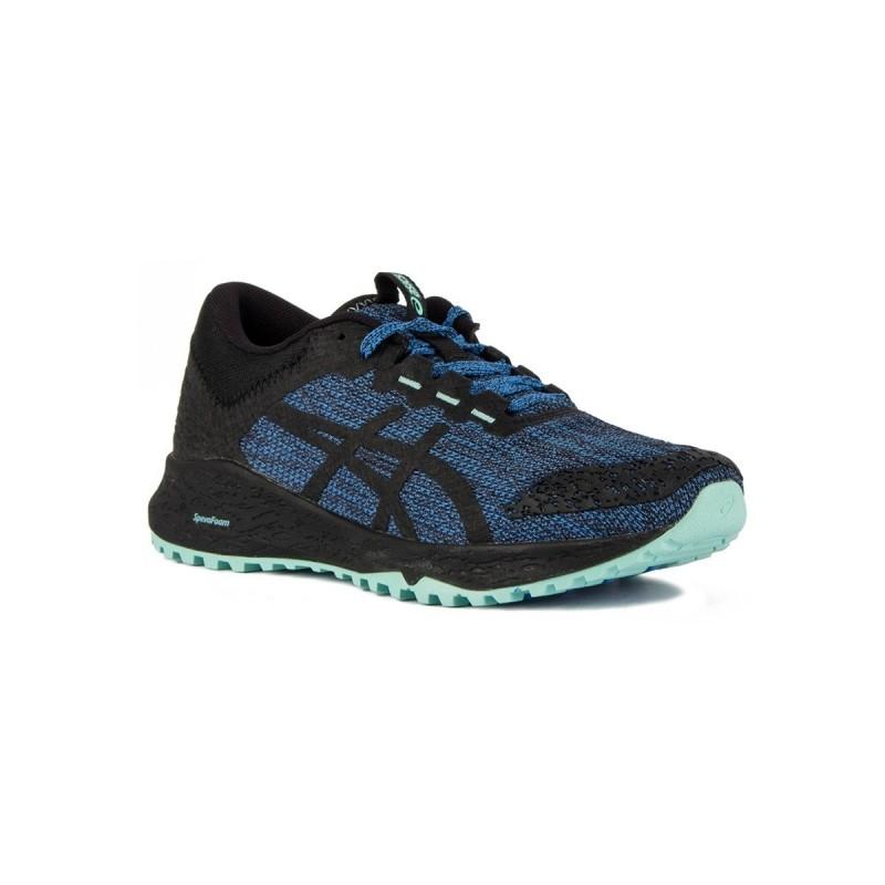 a4e025611 Asics Alpine XT Blue Coast Black Negro Azul Mujer