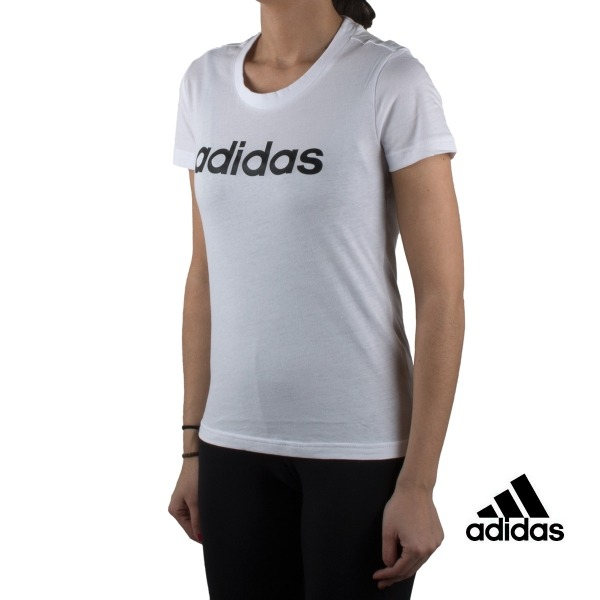 Adidas Camiseta Essentials Linear Slim Tee Blanco White Mujer