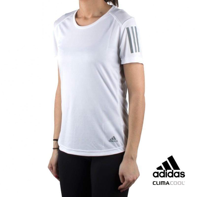 Adidas camiseta Own the Run Tee blanco mujer