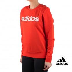 Adidas sudadera ESS Lin Sweat Rojo mujer