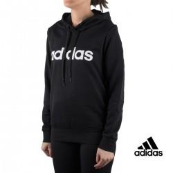 Adidas sudadera Essentials Linear Hoodie Negro mujer