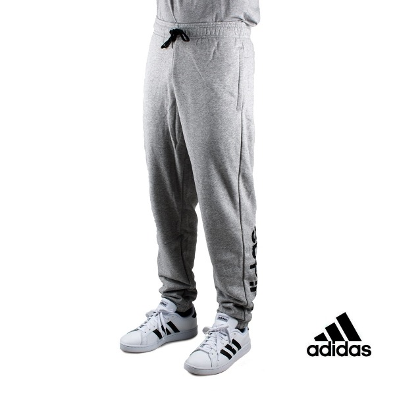 Adidas pantalón Essentials Linear Tapered Gris Hombre