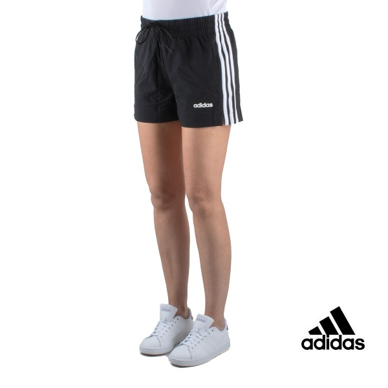 Essentials Corto 3 Pantalón Adidas Stripes Negro Mujer Short TKu1Fc3lJ