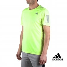 Adidas Camiseta Own the Run Tee Amarillo Fluor Hombre