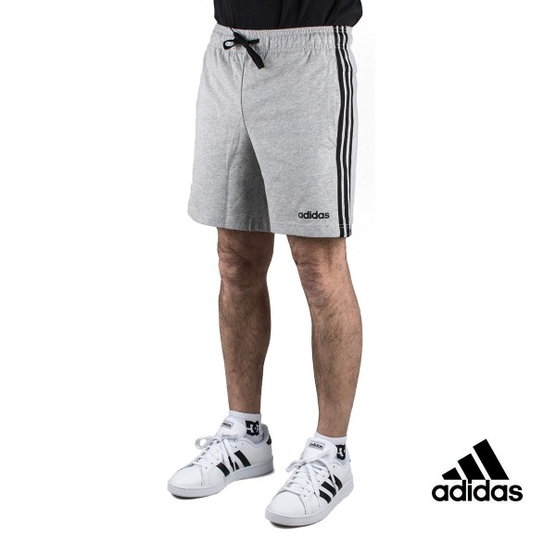 Adidas Pantalón corto Essentials 3 Stripes Short Single Gris Hombre