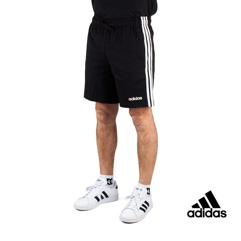 Exactitud negativo lila  Adidas Pantalón corto Essentials 3 Stripes Short Single Negro Hombre
