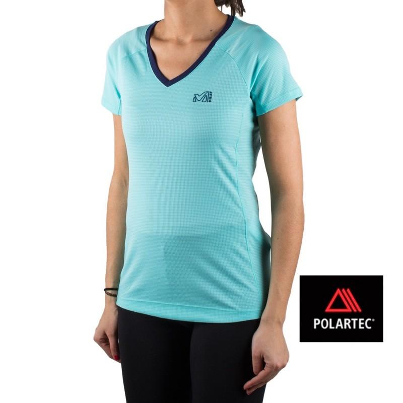 Millet Ts Turquesa Mujer Camiseta Roc Ld Ss NPXnk80wOZ