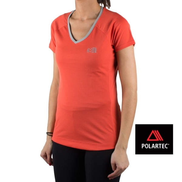 Millet camiseta LD ROC TS SS Coral mujer