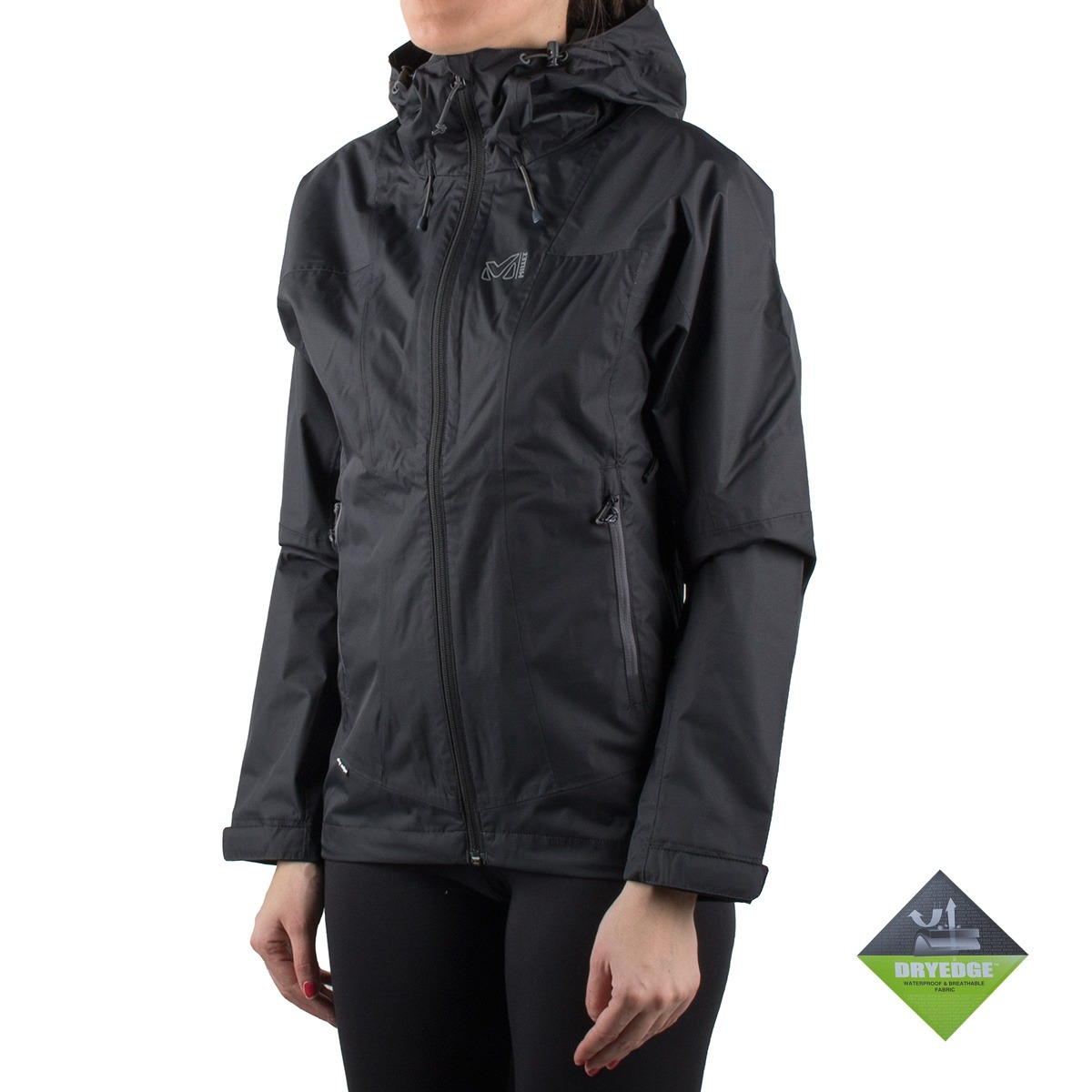 Millet LD FITZ ROY 2.5L II JKT Impermeable Cortavientos Negro Mujer