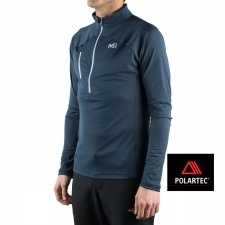 Millet pull ELEVATION ZIP LS Orion Blue Azul Marino Hombre