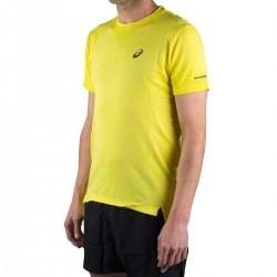 Asics Camiseta Seamless Amarillo Hombre