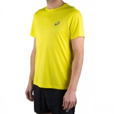 Asics Camiseta Silver SS Top Illusion Lemon Spark Amarillo Hombre