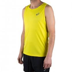 Asics Camiseta tirantes Silver Singlet Lemon Spark Amarillo Hombre