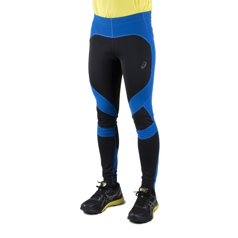 Asics mallas largas Leg Balance 2 Performance Black Ilusion Blue Negro Azul Hombre