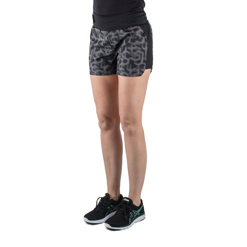 Asics pantalón corto 3.2in Short Print Performance Black Estampado Negro mujer