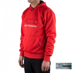 +8000 Sudadera Alec 19V Rojo Hombre