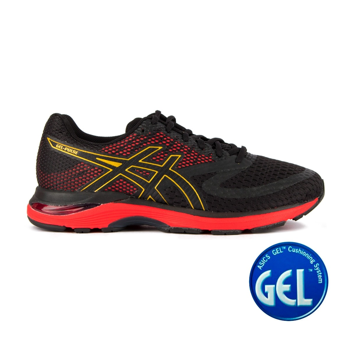Asics Gel Pulse 10 Innovation In Motion Black Rich Gold Hombre