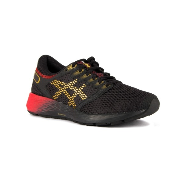 8d5eeace90999 Asics RoadHawk FF 2 Innovation In Motion Black Rich Gold Hombre