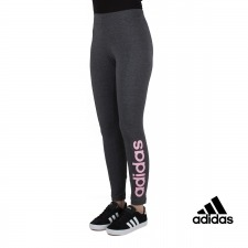 Adidas malla Essentials Linear Tight Gris Rosa Mujer