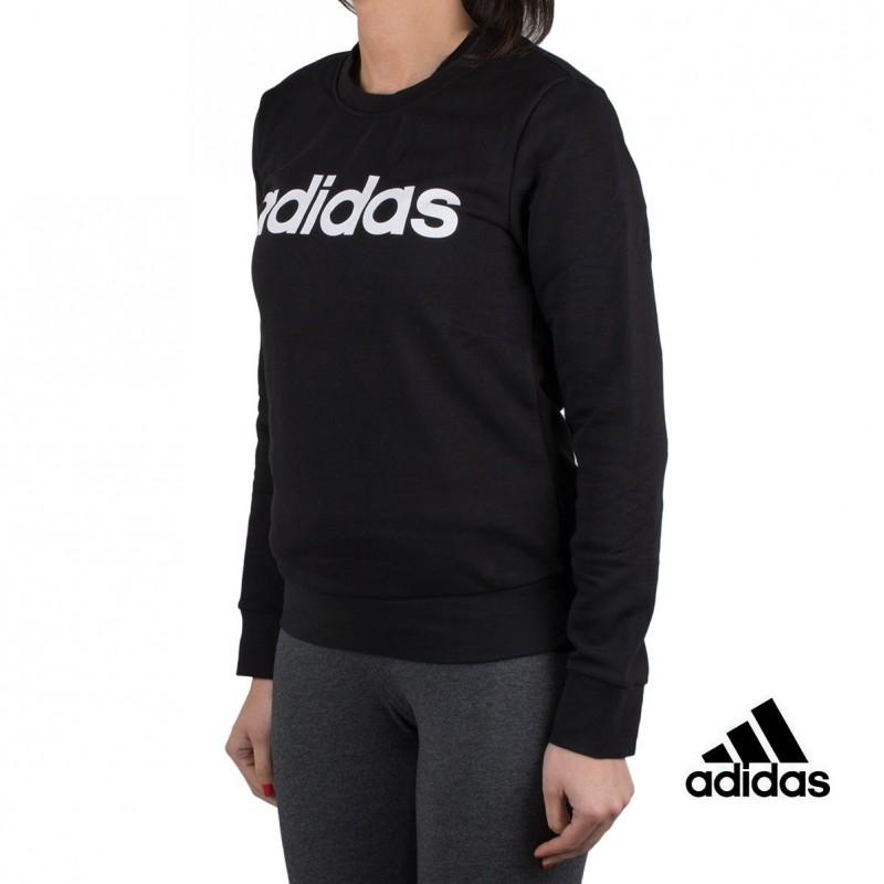 Adidas sudadera ESS Lin Sweat Negro mujer