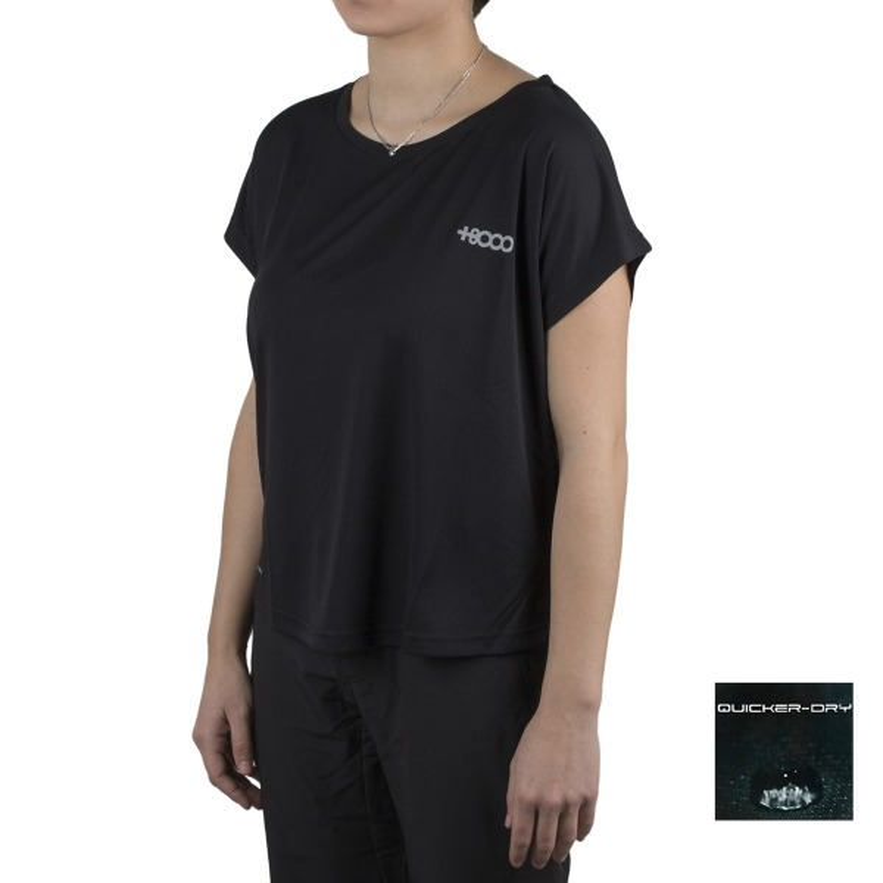 +8000 Camiseta Saladina 19V Negro Mujer