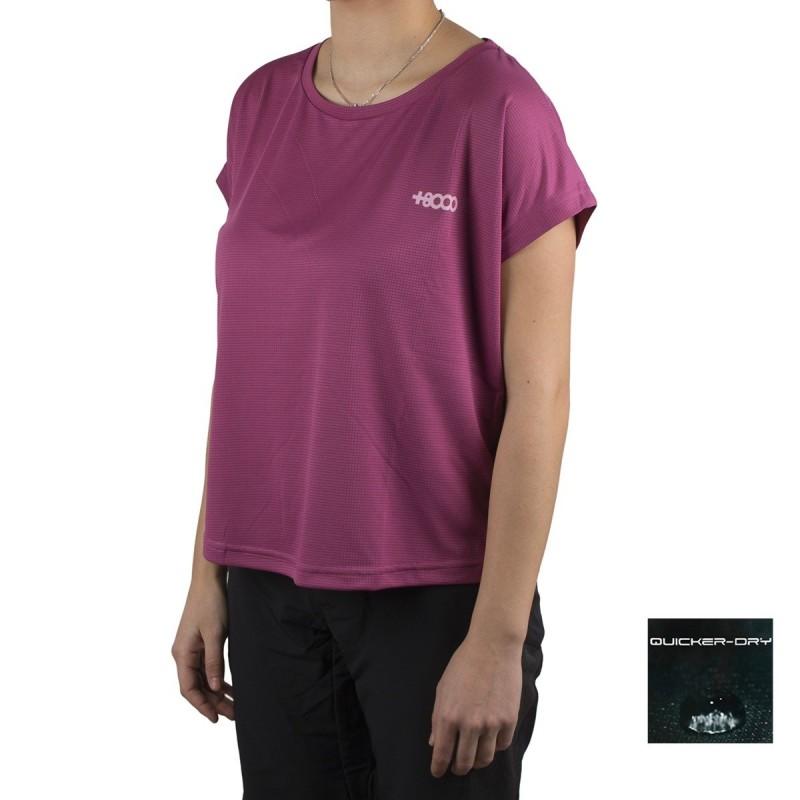 +8000 Camiseta Saladina 19V Vino Rosado Mujer