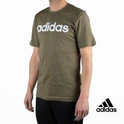 Adidas Camiseta Essentials Linear T-shirt Verde Kaki Hombre