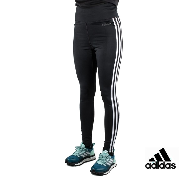 Adidas Mallas largas Design 2 Move High-Rise 3 bandas Negro Mujer