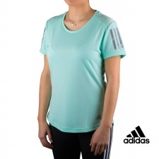 Adidas camiseta Own the Run Tee verde menta mujer