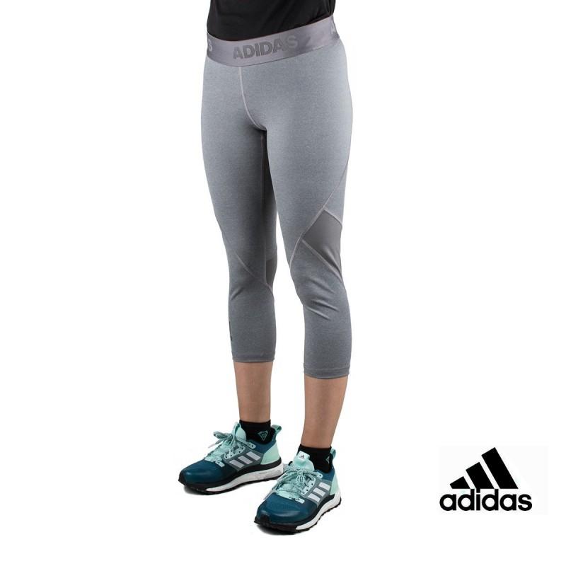 Adidas Mallas 3/4 Alphaskin Sport Heather Gris Mujer