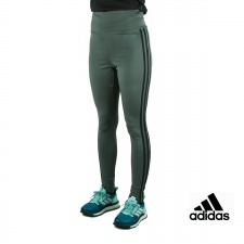 Adidas Mallas largas Design 2 Move High-Rise 3 bandas Verde Mujer