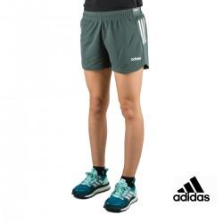 Adidas Pantalón corto Design 2 Move 3 bandas Short Verde Mujer