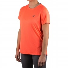 Asics camisetaSilver SS Top Flash Coral Fluor mujer