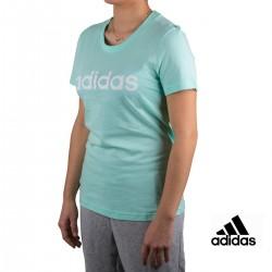 Adidas Camiseta Essentials Linear Slim Tee Verde Menta Mujer