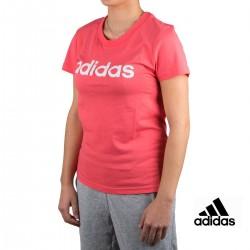 Adidas Camiseta Essentials Linear Slim Tee Coral Mujer