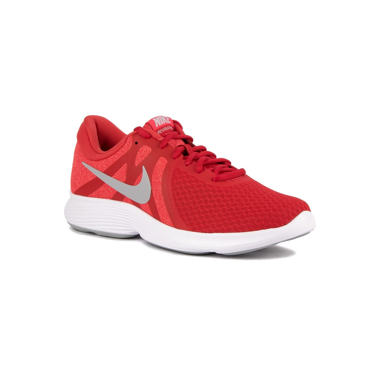 Nike Revolution 4 EU University Red Wolf Grey Rojo Hombre
