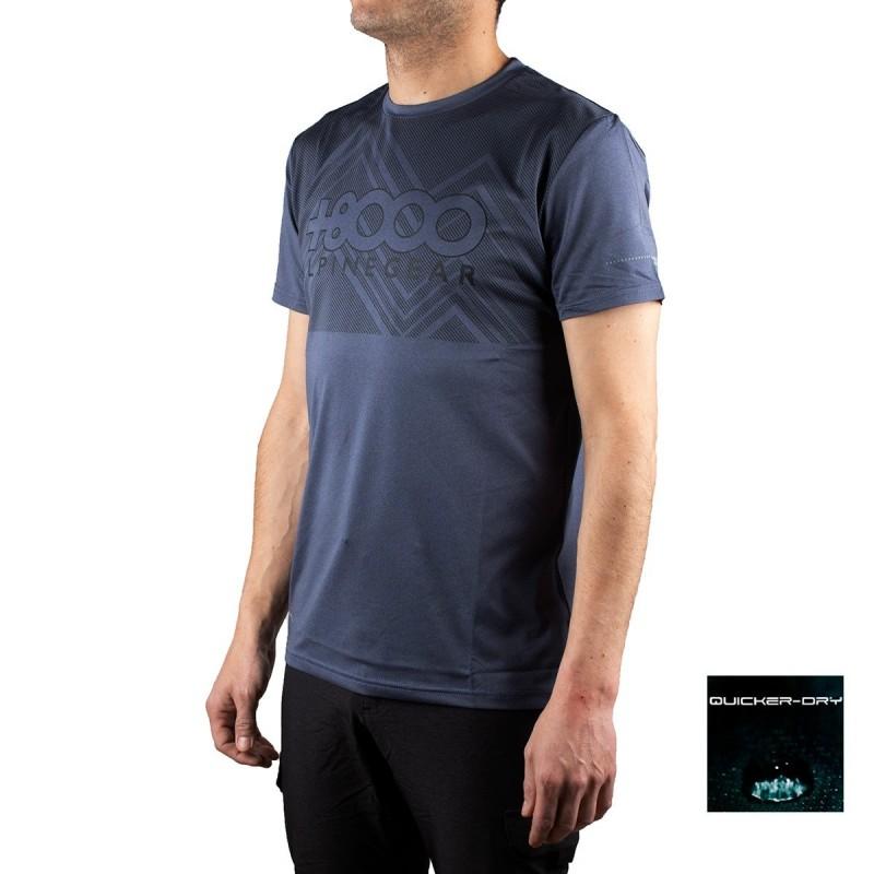 +8000 Camiseta Aquari 19V Gris Azulado Vigore Hombre