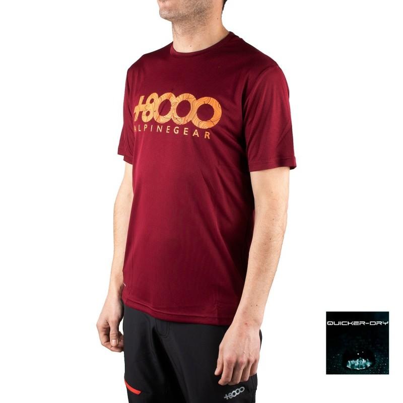 +8000 Camiseta Walk 19V Vino Burdeos Hombre