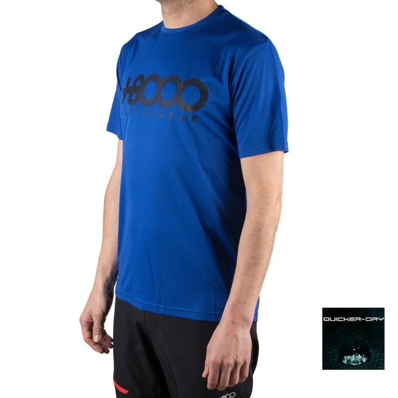 +8000 Camiseta Walk 19V Azul Tinta Hombre