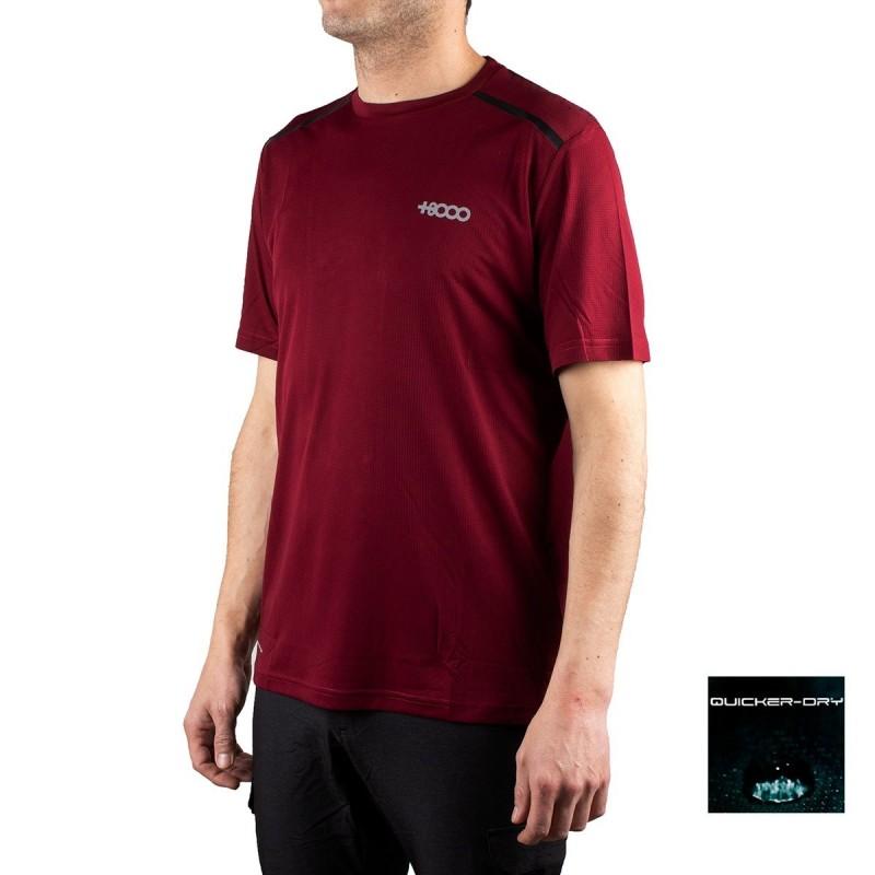 +8000 Camiseta Jebel 19V Vino Burdeos Hombre