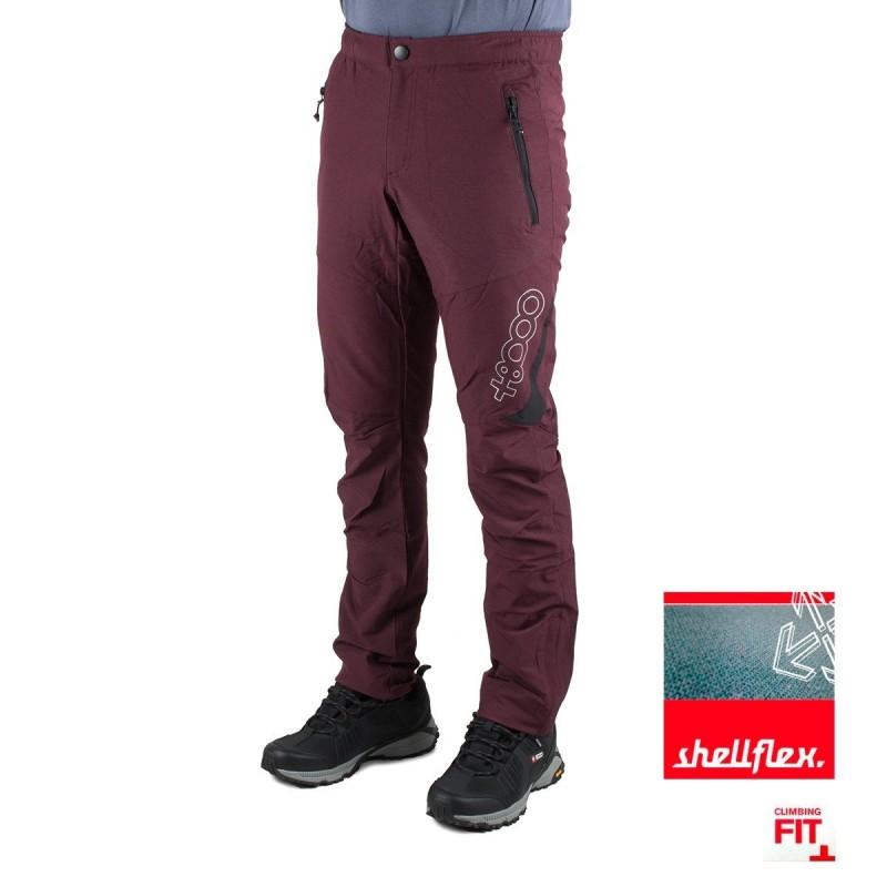 +8000 Pantalón Jog 19V Granate Tejido Bicolor Hombre