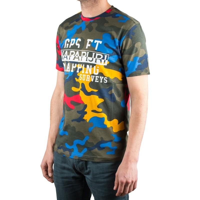 Napapijri camiseta Salka Print Fantasy Camuflaje Hombre